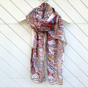 Anthropologie Paisley Multi Color Scarf